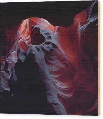 Arc Light-sq Wood Print