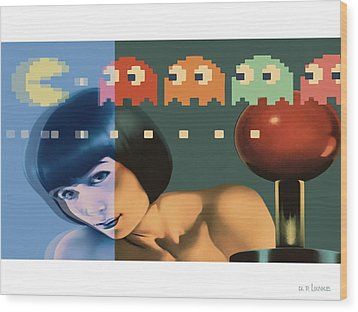 Arcade Culture Wood Print by Udo Linke