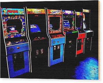 Arcade Forever Nintendo Wood Print by Benjamin Yeager