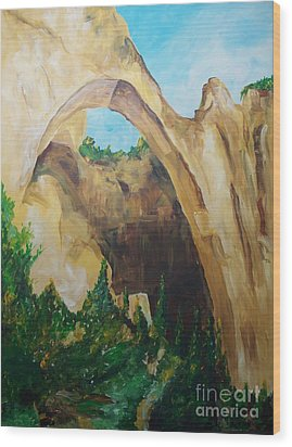 Wood Print featuring the painting Arch by Eric  Schiabor