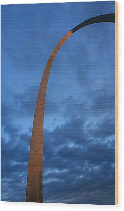 Arch Glow Wood Print by Scott Rackers