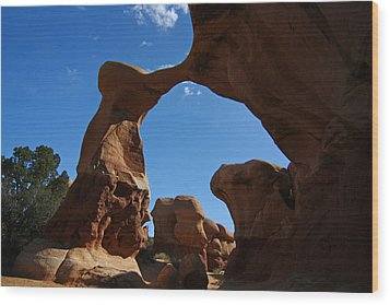 Arch In Devils Garden In Grand Escalante Nm Wood Print