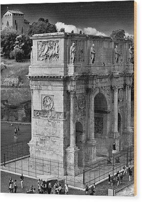 Arch Of Constantine Wood Print by Matthew Ahola