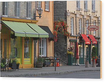 Arch Of Flowers In Old Quebec City Wood Print by Juergen Roth