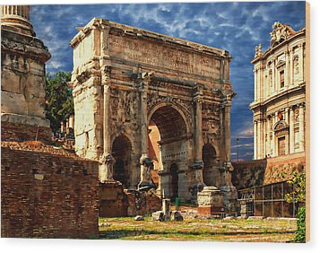 Arch Of Septimius Severus Wood Print