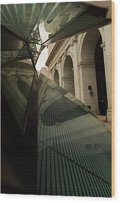 Wood Print featuring the photograph Arch Reflections by Haren Images- Kriss Haren