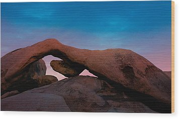Arch Rock Evening Wood Print