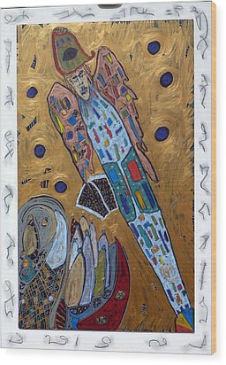 Archangel Michael Wood Print by Clarity Artists