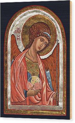 Archangel Michael Wood Print by Raffaella Lunelli