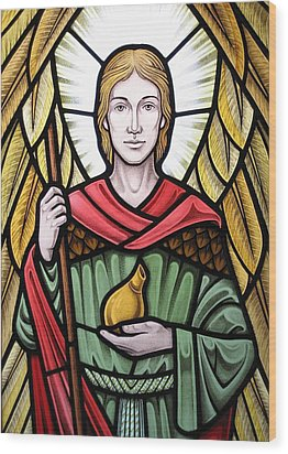 Archangel Raphael Detail Wood Print