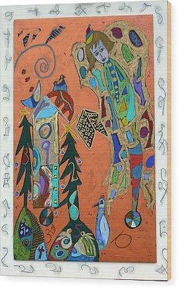 Archangel Sandalphon Wood Print