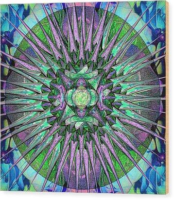 Archangels Gather Mandala Wood Print by Michele Avanti