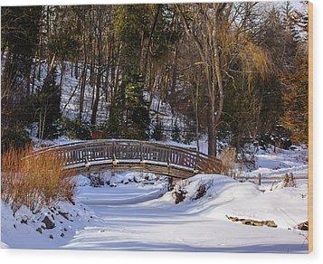 Arched Bridge In Edwards Garden Wood Print
