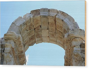 Arched Gate Of The Tetrapylon Wood Print by Tracey Harrington-Simpson
