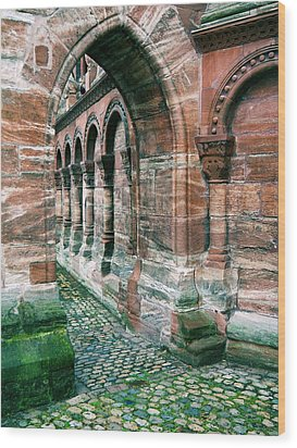 Arches And Cobblestone Wood Print