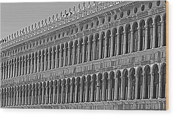 Arches And Columns In Piazza San Marco Wood Print
