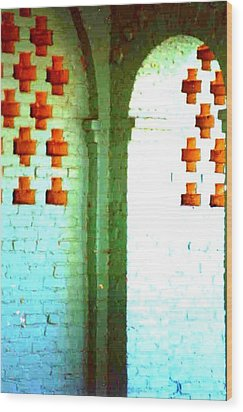 Wood Print featuring the photograph Arches And Crosses New Orleans Louisiana Usa by Michael Hoard