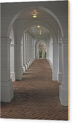 Arches At The Rotunda At University Of Va Wood Print by Jerry Gammon