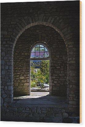 Arches Wood Print by Chuck De La Rosa