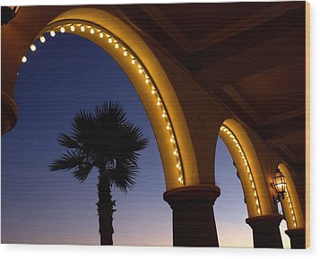 Wood Print featuring the photograph Arches by Lora Lee Chapman