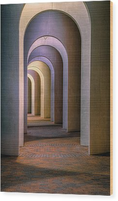 Arches Of The Ferguson Center Wood Print by Jerry Gammon