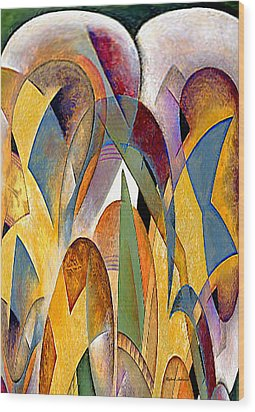 Wood Print featuring the mixed media Arches by Rafael Salazar