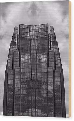 Architect's Dream Black And White Wood Print by Dan Sproul