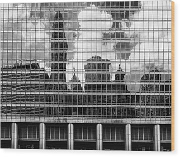 Architectural Abstract 3 Wood Print by Robert  FERD Frank