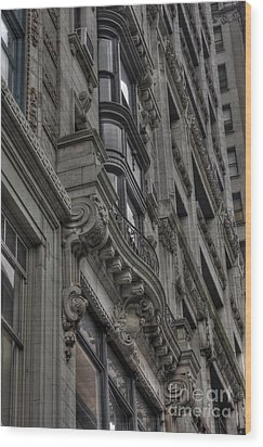 Architectural Detail Wood Print by David Bearden