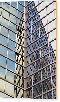 Architectural Details Wood Print by Valentino Visentini