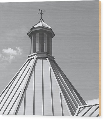 Architectural Gray Wood Print by Ann Horn