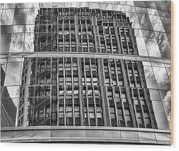 Architectural Reflection 2 Wood Print by Robert  FERD Frank