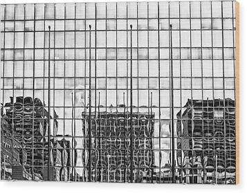 Architectural Reflection Wood Print by Robert  FERD Frank