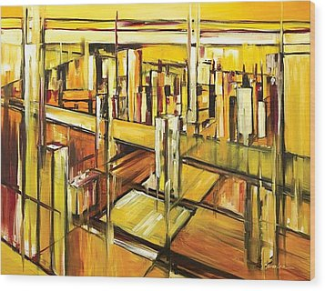 Architecture Wood Print by Ahmed Amir