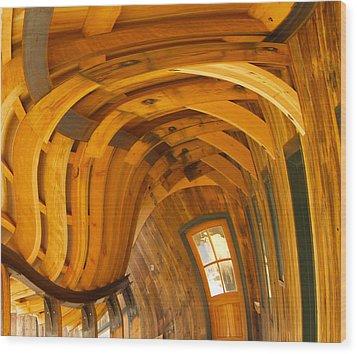 Architecture By Seuss Wood Print by Omaste Witkowski