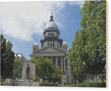 Architecture - Illinois State Capitol  - Luther Fine Art Wood Print by Luther Fine Art