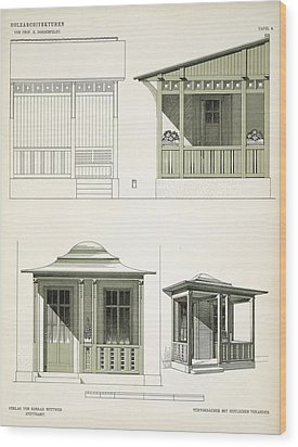 Architecture In Wood, C.1900 Wood Print by Richard Dorschfeldt