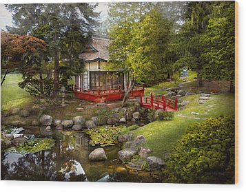 Architecture - Japan - Tranquil Moments  Wood Print by Mike Savad