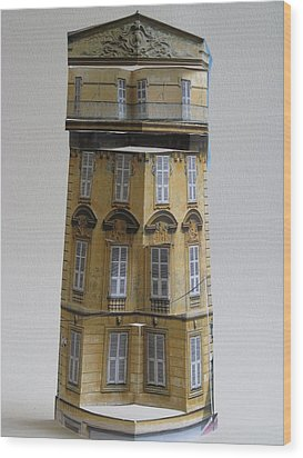Architecture Reconstruction Wood Print by Alfred Ng
