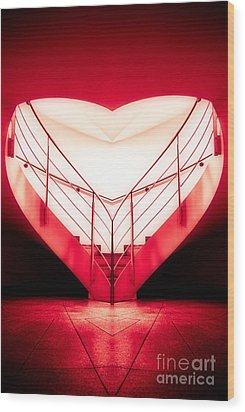 architecture's valentine - redI Wood Print by Hannes Cmarits