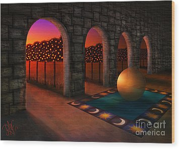 Archway Of Silence Wood Print