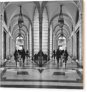 Wood Print featuring the photograph Archway Trieste by Graham Hawcroft pixsellpix