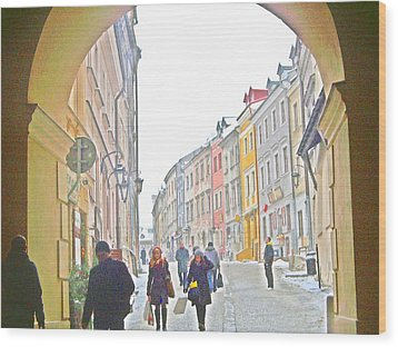 Archway Wall Into Lublin / Old City Wood Print by Rick Todaro