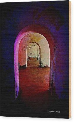 Arcos Wood Print by Edgar Torres
