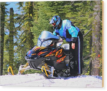 Arctic Cat Snowmobile Wood Print