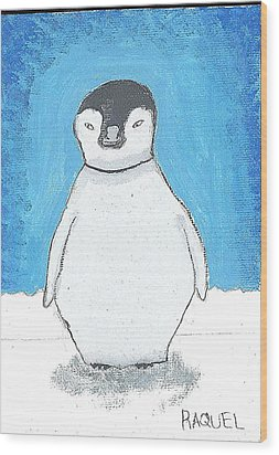 Arctic Penguin Wood Print by Fred Hanna