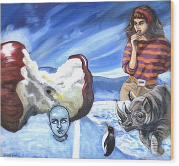 Arctic Soiree Wood Print