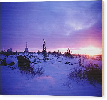 Arctic Sunset In Churchill Canada Wood Print