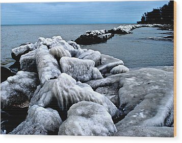 Arctic Waters Wood Print by Frozen in Time Fine Art Photography