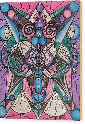 Arcturian Healing Lattice  Wood Print